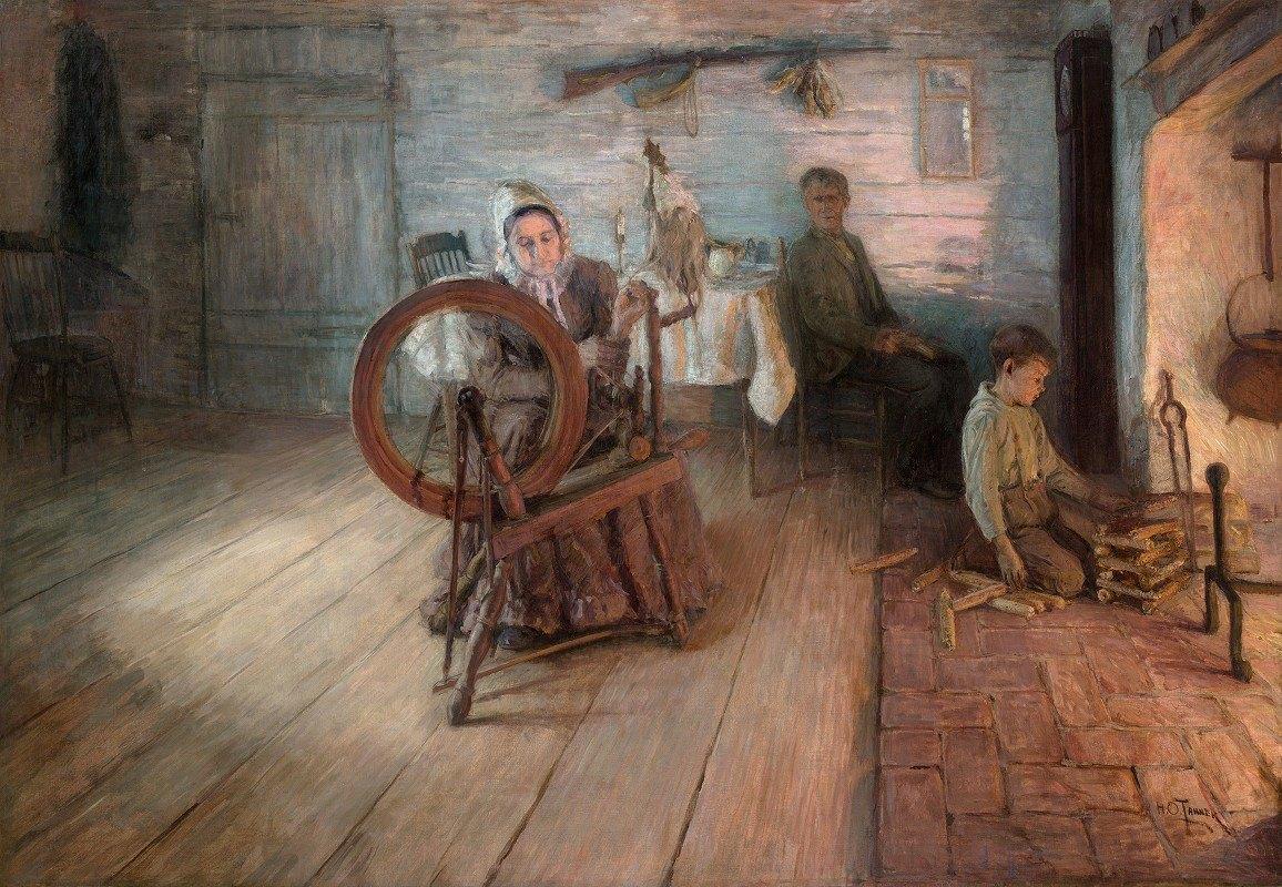 Henry Ossawa Tanner - Spinning By Firelight–The Boyhood of George WashingtonGray