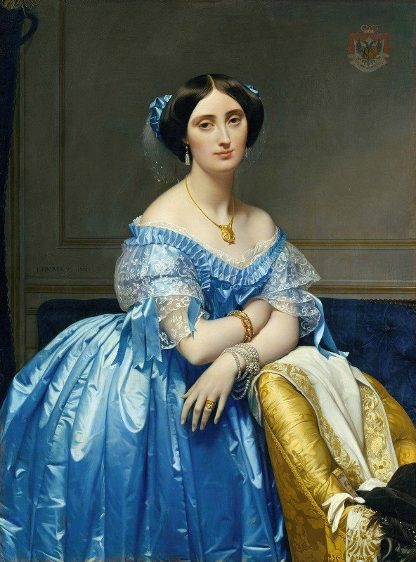 Jean Auguste Dominique Ingres - Joséphine-Éléonore-Marie-Pauline de Galard de Brassac de Béarn- Princesse de Broglie