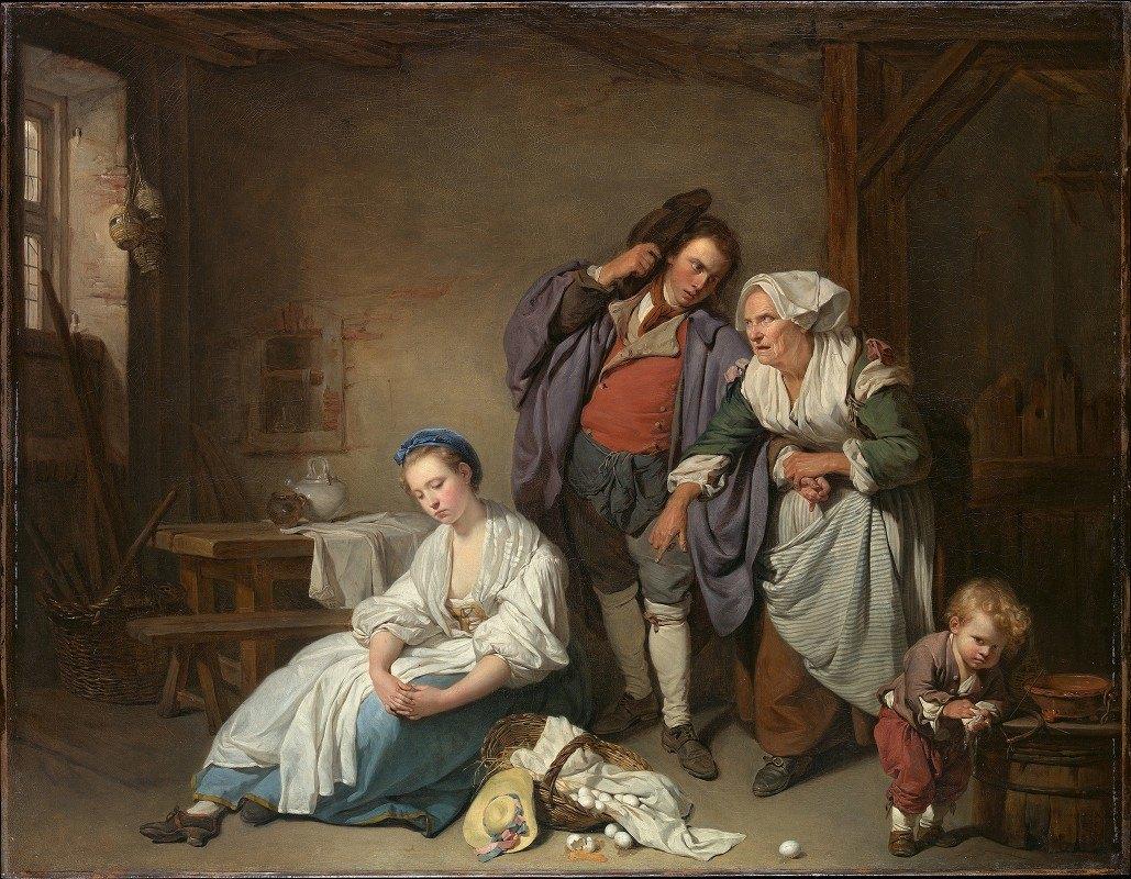 Jean-Baptiste Greuze - Broken Eggs