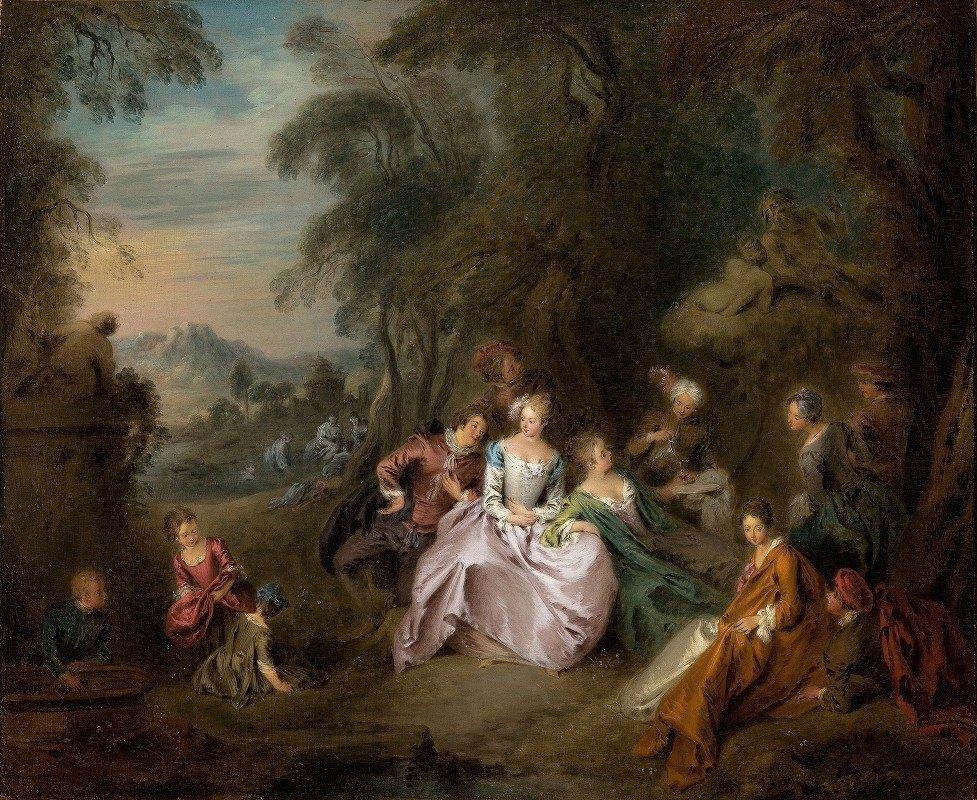 Jean-Baptiste Pater - Repose in a Park