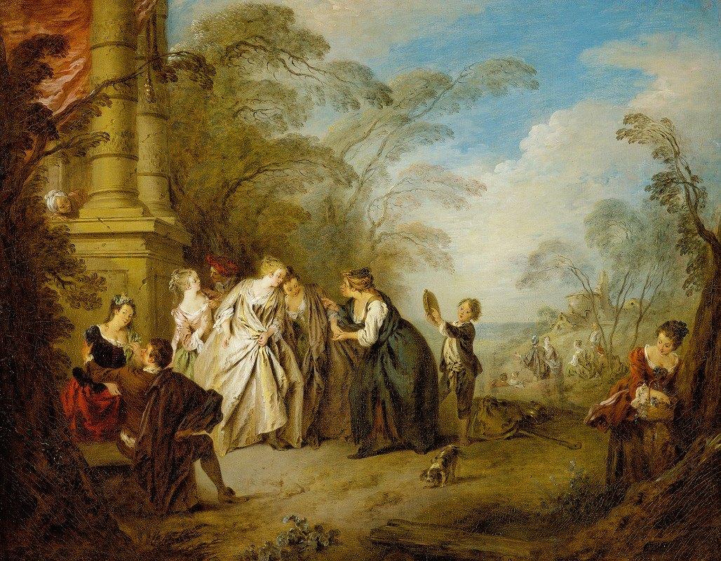 Jean-Baptiste Pater - The Fortune Teller