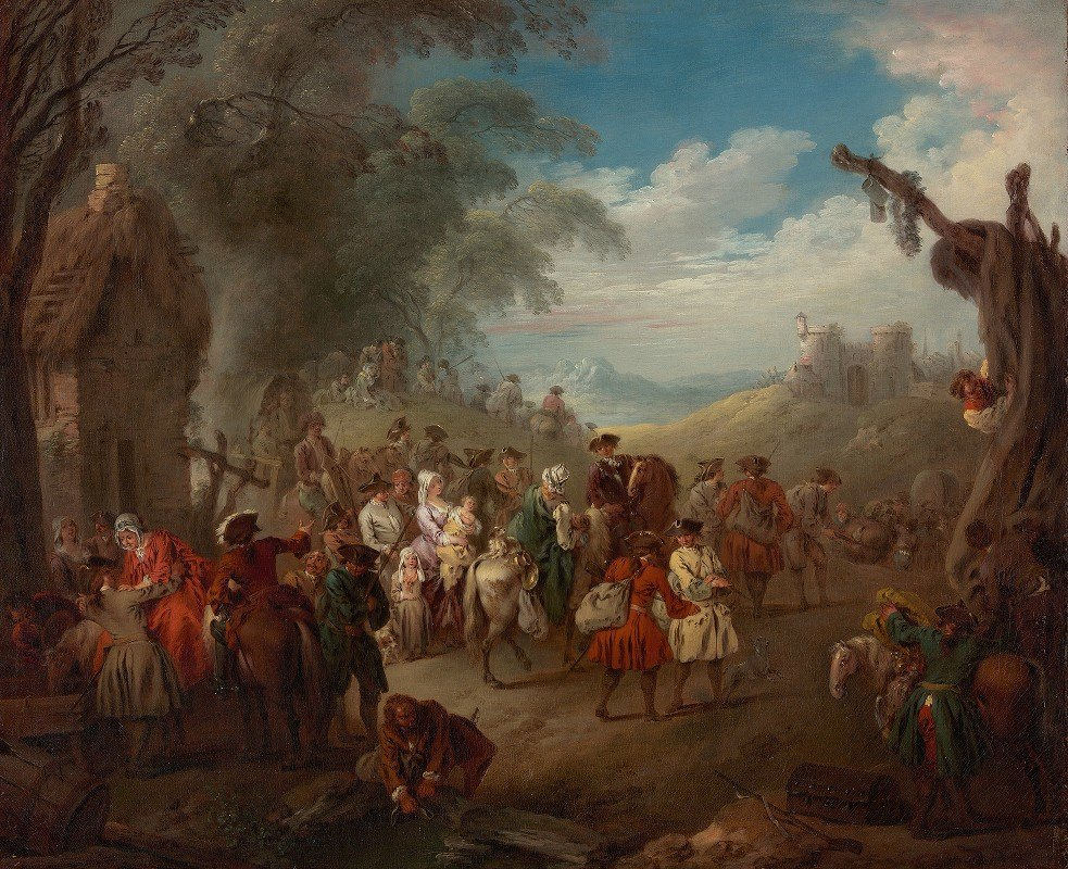 Jean-Baptiste Pater - Troops on the March