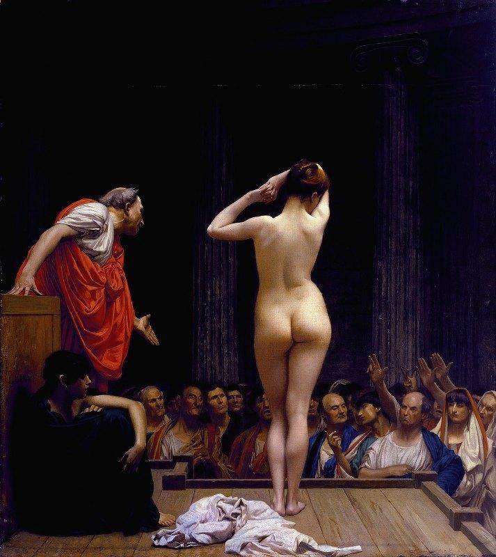 Jean-Léon Gérôme - A Roman Slave Market