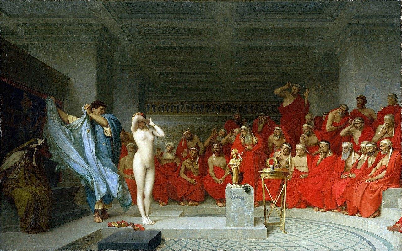 Jean-Léon Gérôme - Phryne revealed before the Areopagus