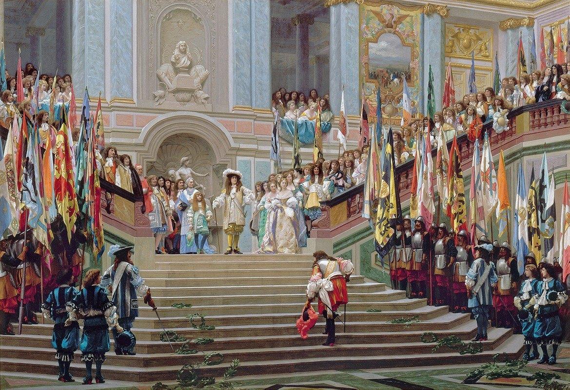 Jean-Léon Gérôme - Reception of Le Grand Condé by Louis XIV at Versailles in 1674