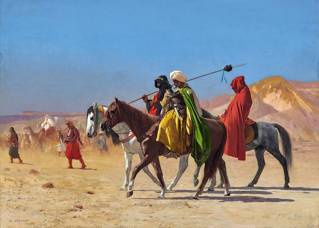 Jean-Léon Gérôme - Riders Crossing the Desert