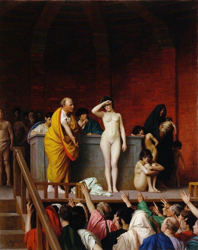 Jean-Léon Gérôme - Slave Market in Ancient Rome