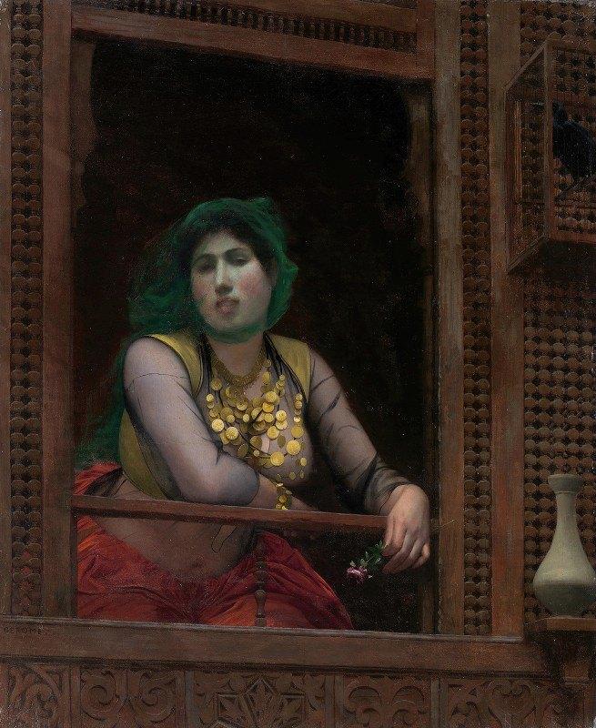 Jean-Léon Gérôme - Woman at a Balcony