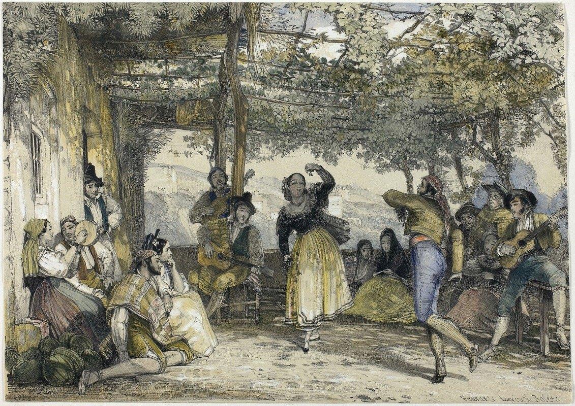 John Frederick Lewis - Spanish Peasants Dancing the Bolero
