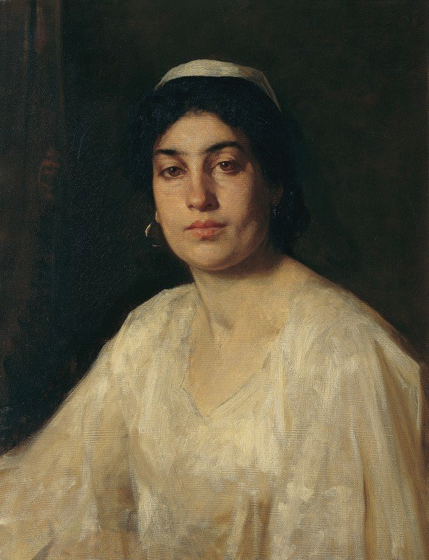 Leopold Carl Müller - Portrait of an Egyptian woman