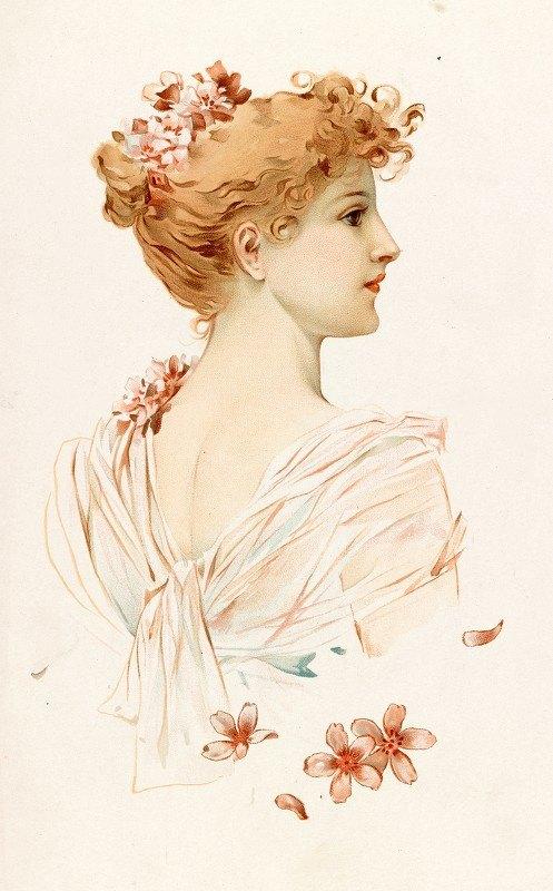 Louis Prang - Portrait of a Woman