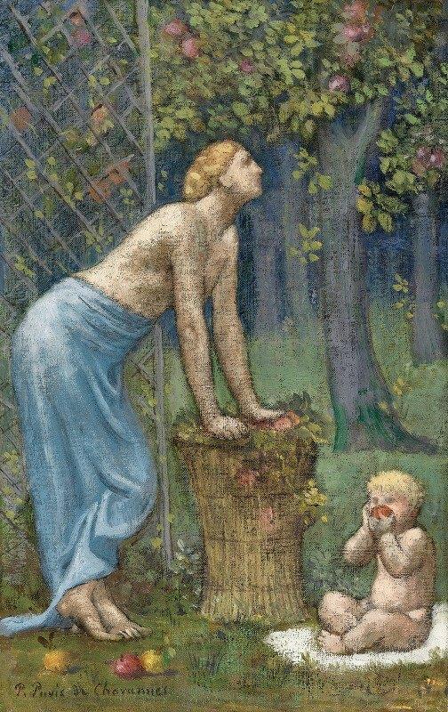 Pierre Puvis de Chavannes - Recolte des Pommes