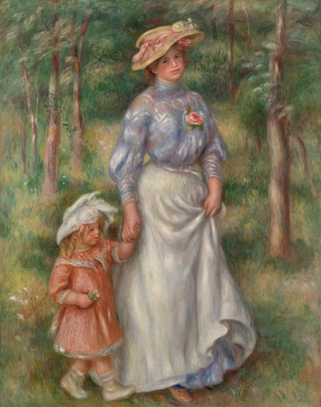 Pierre-Auguste Renoir - Promenade (La Promenade)