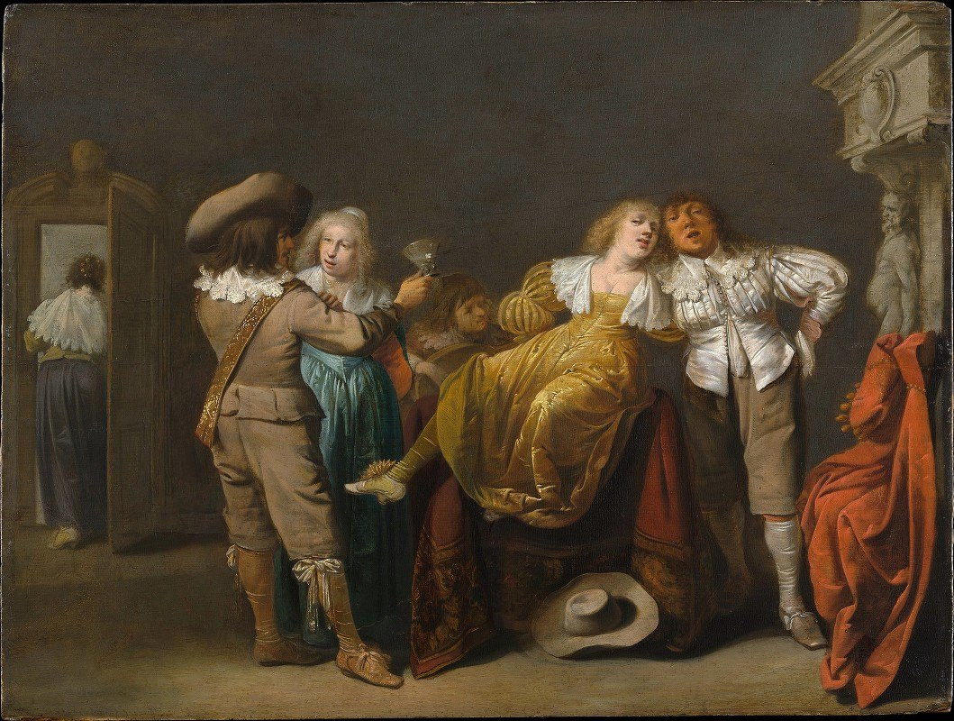 Pieter Jansz. Quast - A Party of Merrymakers
