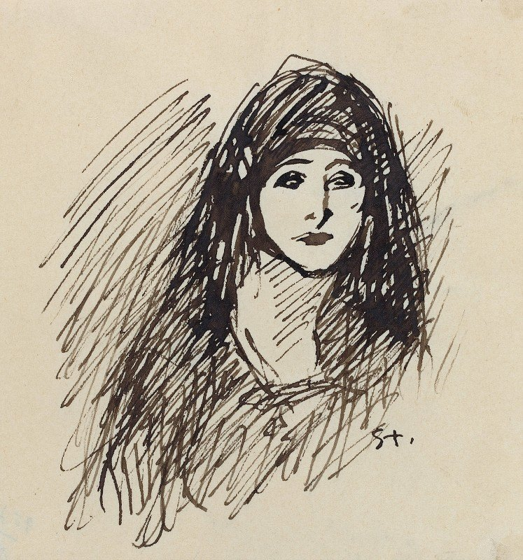 Théophile Alexandre Steinlen - Portrait of the Artist's Wife