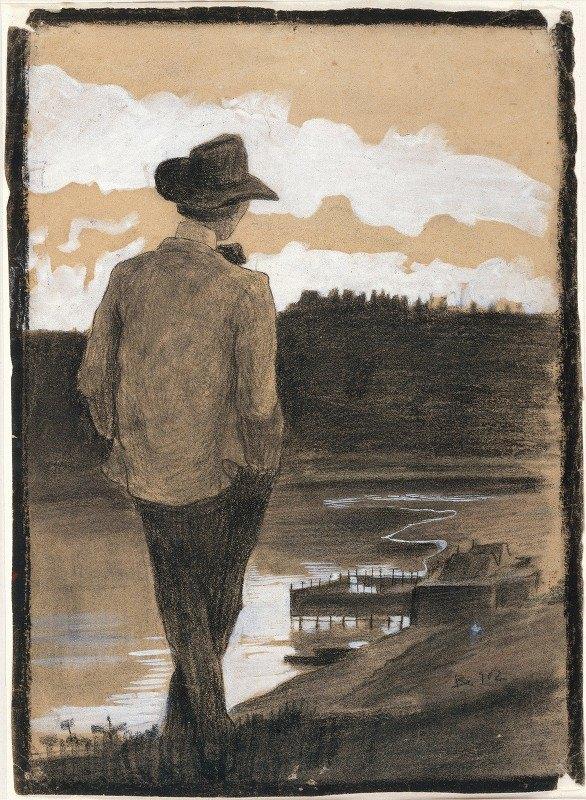 Umberto Boccioni - Young Man on a Riverbank
