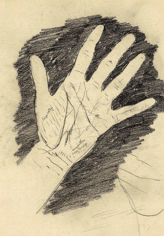 Willem Witsen - Hand met gespreide vingers