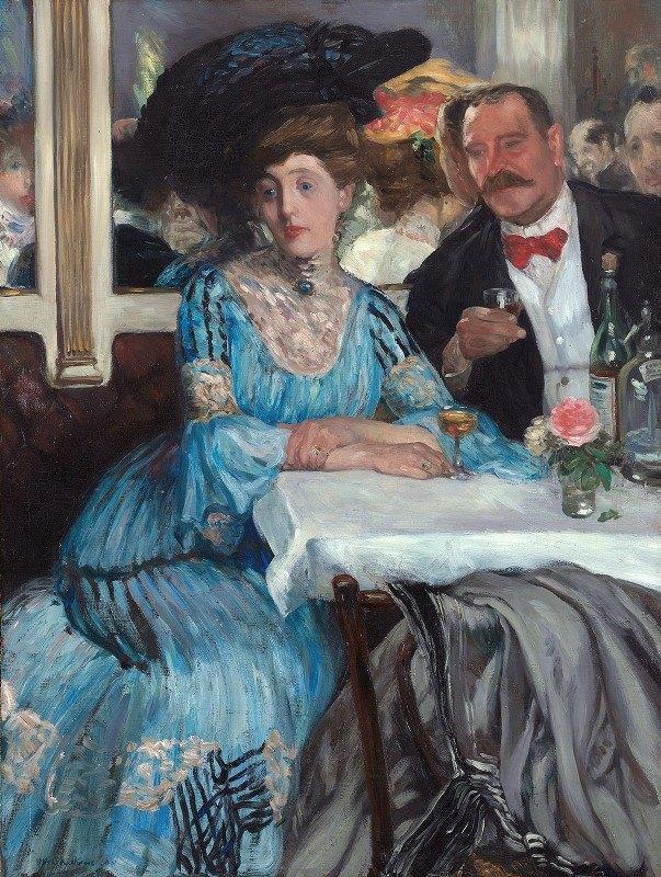 William James Glackens - At Mouquin's