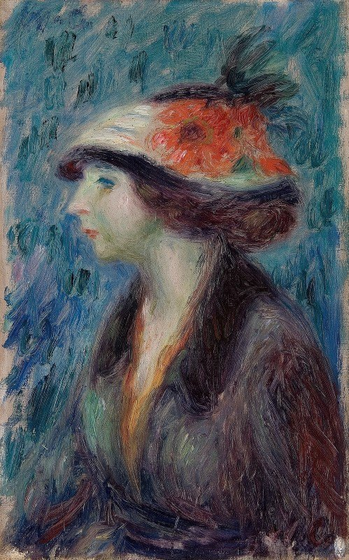 William James Glackens - Girl with Flowered Hat