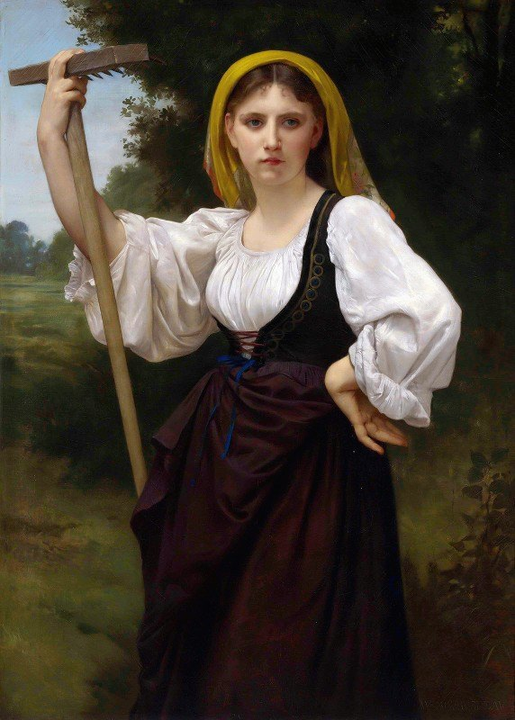 William-Adolphe Bouguereau - La faneuse