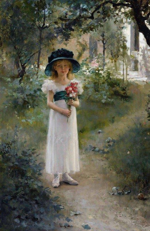 Albert Edelfelt - Au Jardin