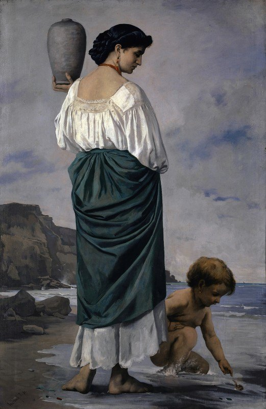 Anselm Feuerbach - At The Beach, Fisher Maiden In Antium