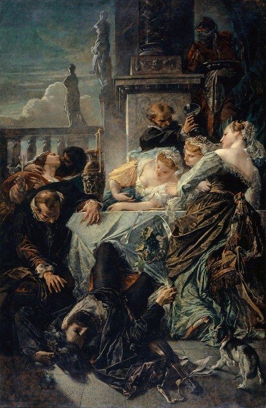 Anselm Feuerbach - The Death Of Pietro Aretino