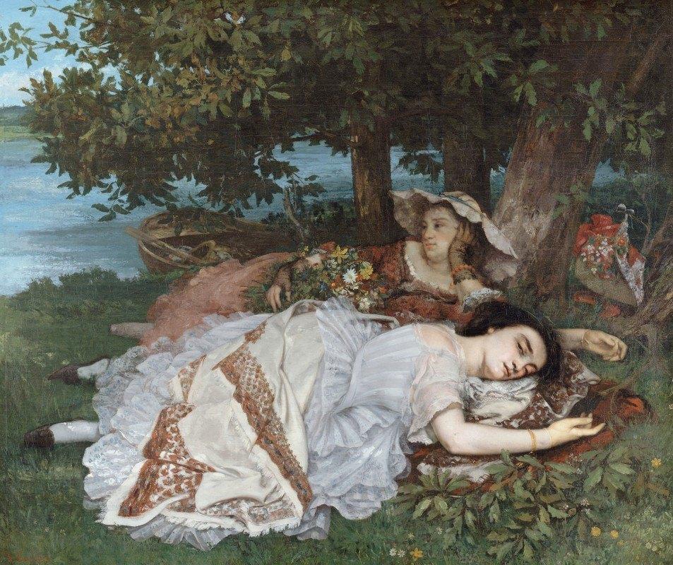 Gustave Courbet - Les demoiselles des bords de la Seine (été)