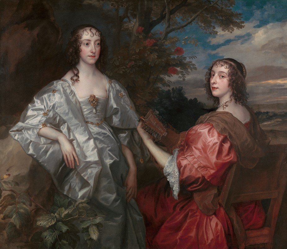 Anthony van Dyck - Katherine, Countess of Chesterfield, and Lucy, Countess of Huntingdon