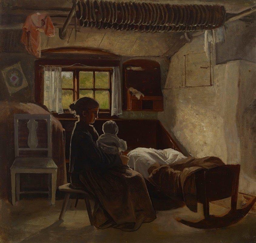 Albert Edelfelt - Interior View Of A Uusimaa Living Room