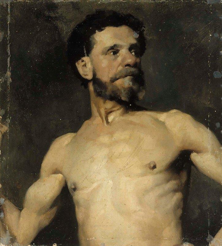 Albert Edelfelt - Male Model, Study