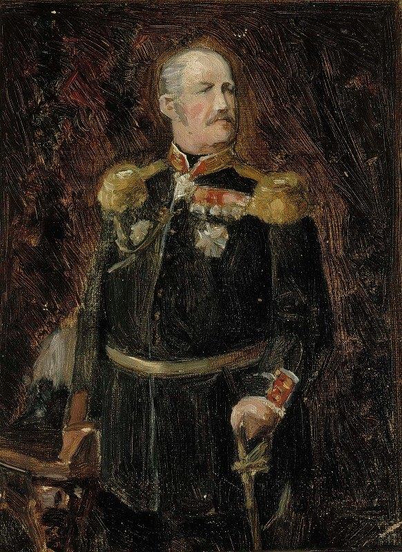 Albert Edelfelt - Portrait Of General Adjutant, Count Adolf Aminoff, Sketch