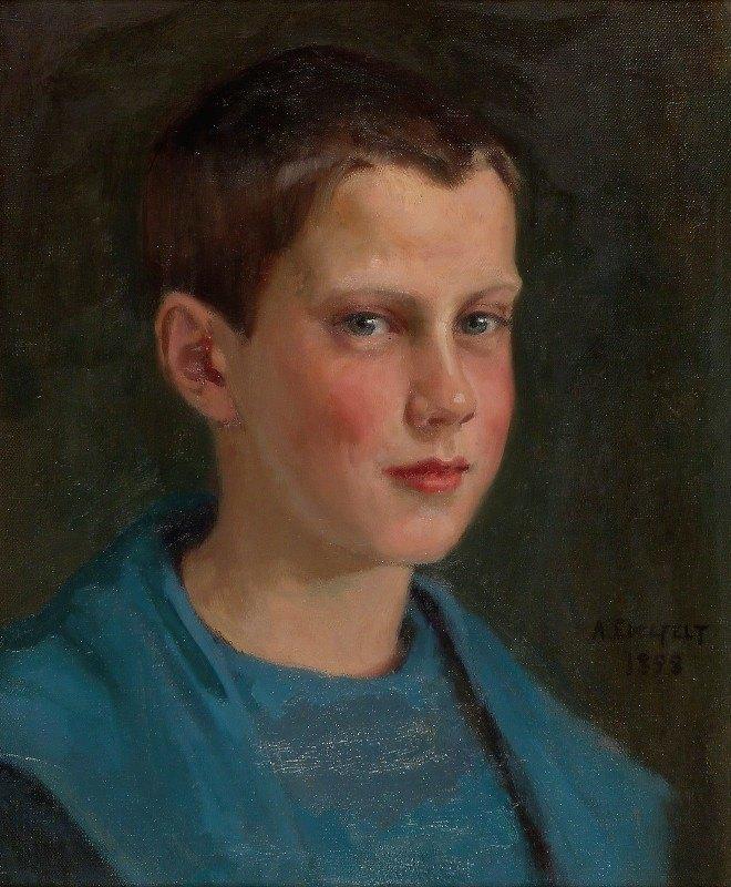 Albert Edelfelt - Erik Edelfelt Lapsena