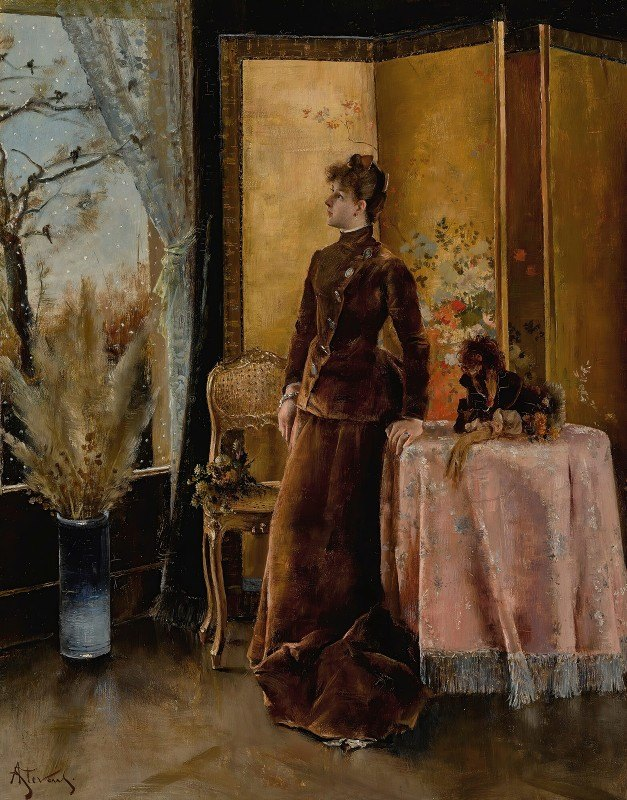 Alfred Stevens - La Neige