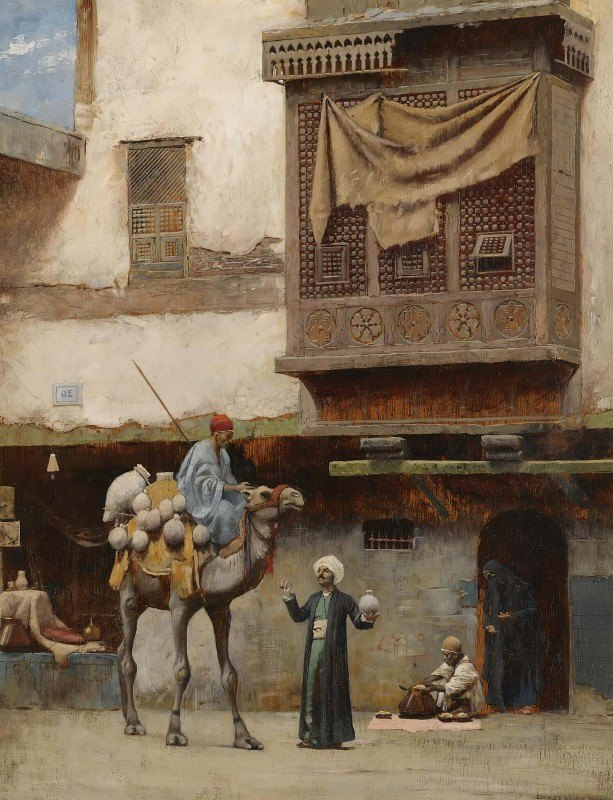Charles Sprague Pearce - Apottery Seller In Old Cairo