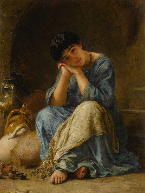 Edwin Long - The Ionian Pottery Seller