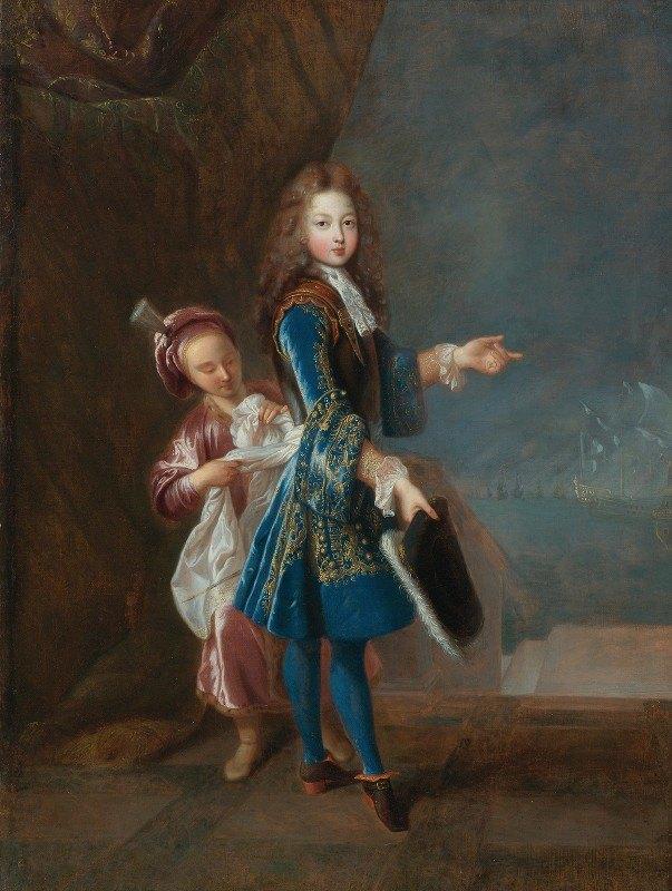 Jean-François de Troy - Portrait Of Louis Alexandre De Bourbon, Comte De Toulouse
