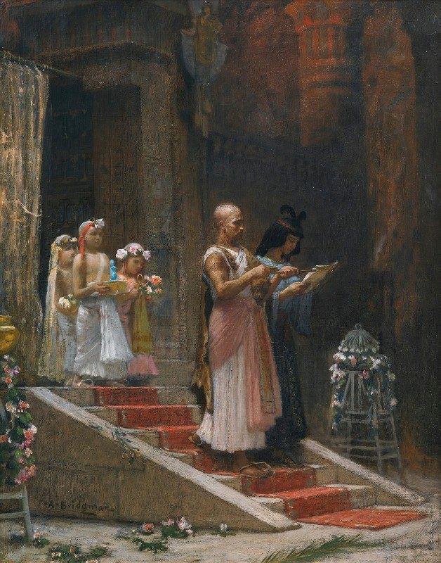 Frederick Arthur Bridgman - An Egyptian Procession