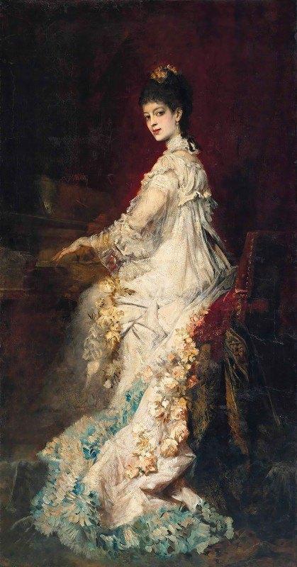 Hans Makart - Portrait Of Maria, Countess Von Dönhoff