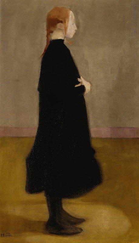 Helene Schjerfbeck - The School Girl Ii (Girl In Black)