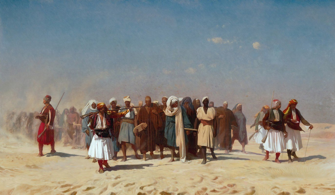 Jean-Léon Gérôme - Egyptian Recruits Crossing The Desert