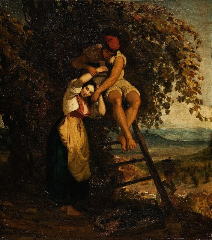 Joseph Severn - Italian Woman And Her Daughter