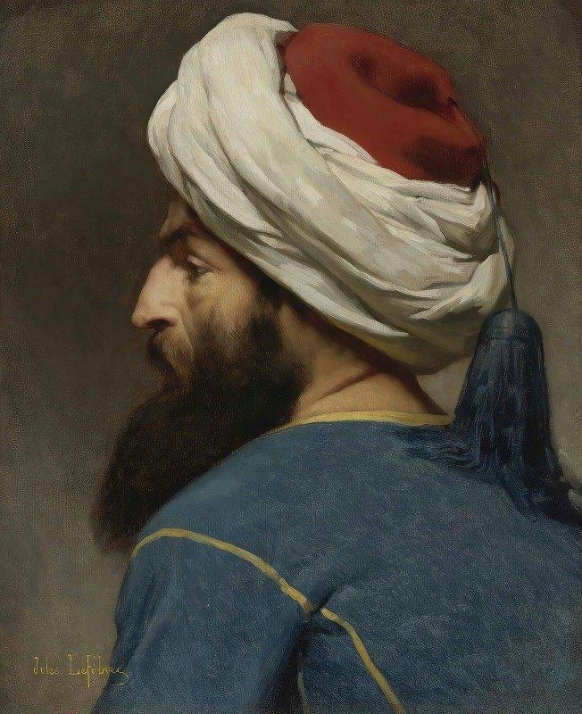 Jules Joseph Lefebvre - Portrait Of An Ottoman