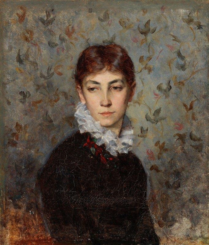Maria Wiik - Portrait Of The Artist´s Sister Miss Hilda Wiik