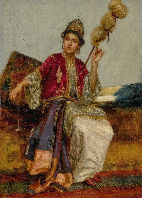 Rudolf Ernst - La Fileuse