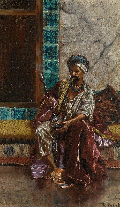 Rudolf Ernst - The Nargilah Smoker