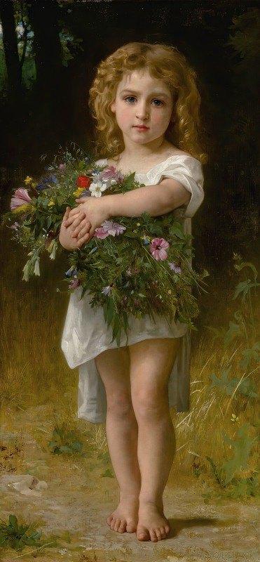 William-Adolphe Bouguereau - Fleurs De Printemps