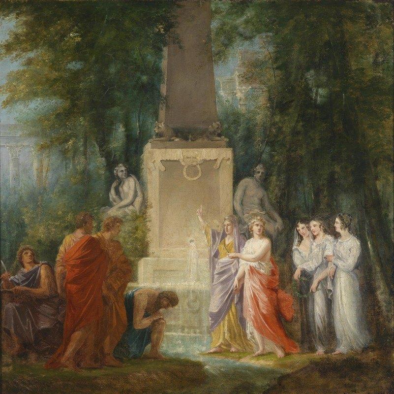 Heinrich Friedrich Füger - Dichter trinken am Kastalischen Quell das Wasser der Wahrhei