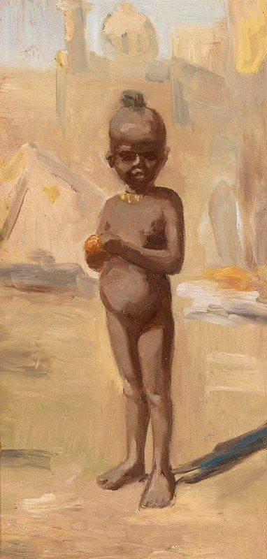 Leopold Carl Müller - Mädchen mit Orange in Kairo