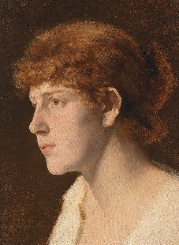 Leopold Carl Müller - Mädchenkopf